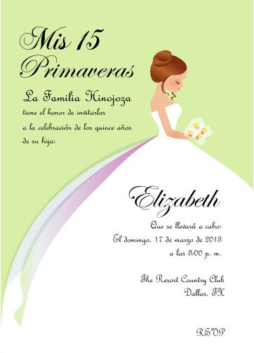 13 best Quinceanera Invitations images on Pinterest Quinceanera