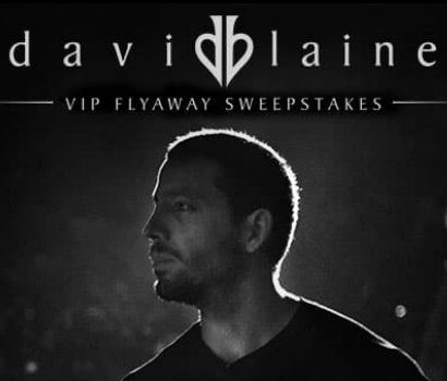 One $2,600.00 Grand Prize consisting of a David Blaine VIP Flyaway to include two front row VIP tickets to David Blaine at Saenger Theatre in New Orleans, LA.    Each participant is eligible to submit up to one entry per day.