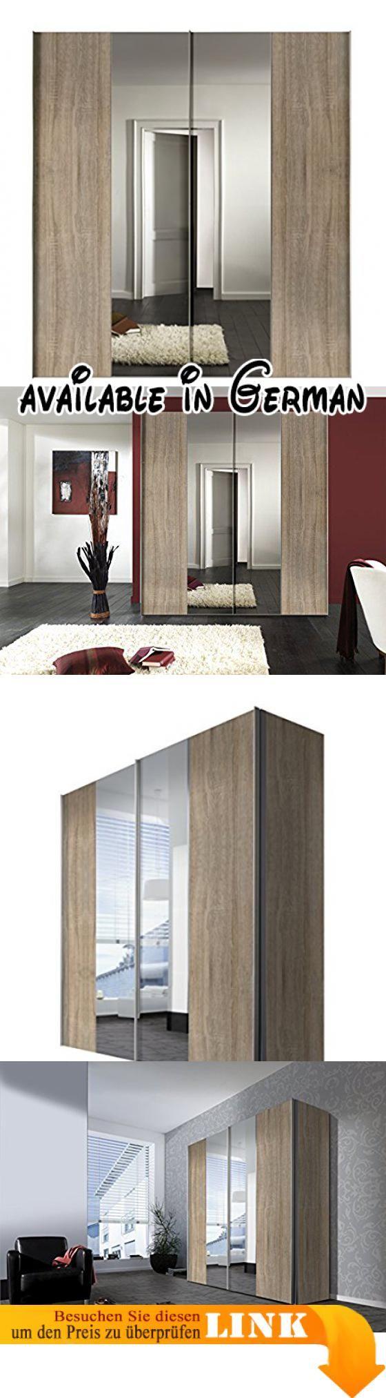 B00YY4QGS8 : Express Möbel 04660-760 Schwebetürenschrank 2-türig Korpus und Front Sonoma-Eiche Spiegel Griffleisten alufarben 68 x 200 x 216 cm. Schlafzimmerschrank 200 cm breit 2-türig. Die Griffleisten des Kleiderschrank sind Alufarben Schrank mit hochwertigen Metallbeschlägen. Schrank Innendekor Silber Axis Der Schrank bietet viel Stauraum. Kleiderschrank Innenaufteilung 2 Elemente 100 100 cm breit. Der Schrank wird mit 2 Wäscheböden und 2 Kleiderstangen geliefert..