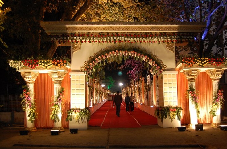 Indian Weddings - Lovely Entrance good use of light