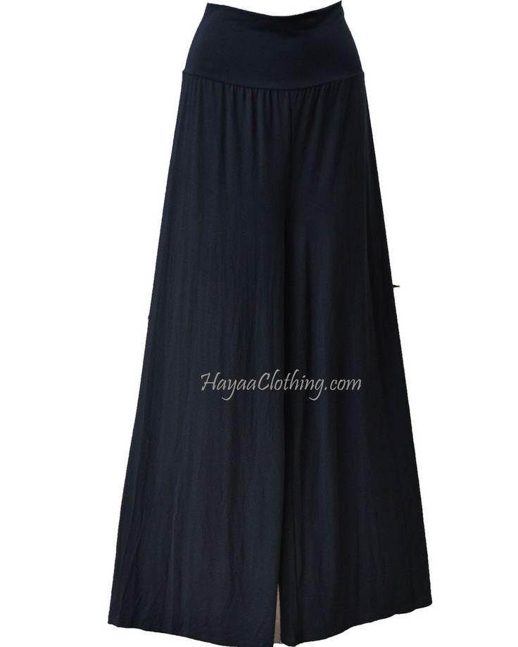 Hayaa Clothing - Modal Rayon Buttery-Soft Palazzo Pants -  Black, $21.99 (http://www.hayaaclothing.com/modal-rayon-buttery-soft-palazzo-pants-black/)