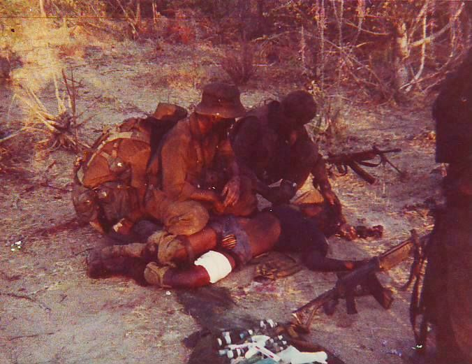Dead (?) Swapo insurgent - Rhodesian/South African wars, 1980