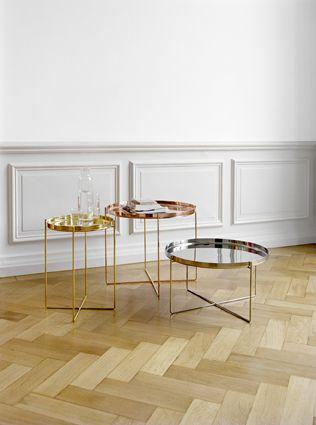 COPPER LOVE  e15 Side Table CM05 HABIBI Tablett, Beistelltisch Designer: Philipp Mainzer, 2008