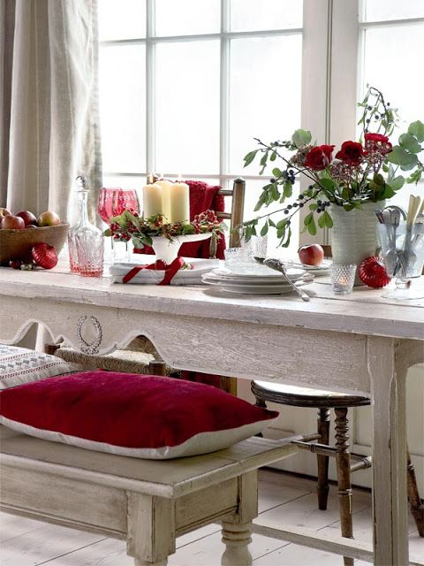 Red hot holiday decor!