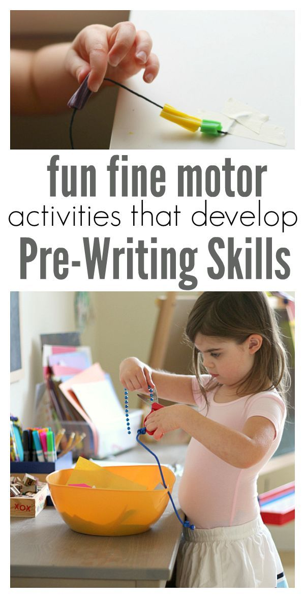 - Fine motor activities for kids that help develop pre-writing skills. Great preschool ideas you can do at home. no time for flash cards pre-writing activities