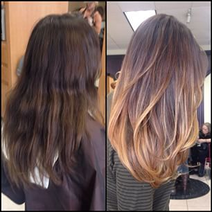 The gallery for --> Balayage Before And After Dark Hair