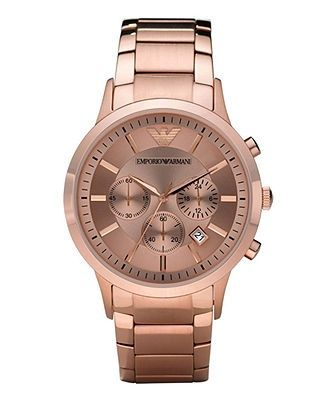 Emporio Armani Watch, Women's Chronograph Rose Gold Tone Stainless Steel Bracelet AR2452 - Women's Watches - Jewelry & Watches - Macy's - cheap womens watches online, womens large watches, womens watches sale