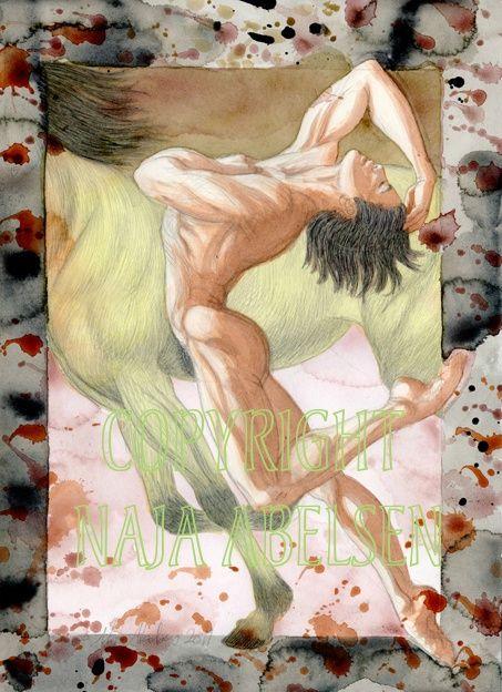 Hestedanseren. (Danish for The Horsedancer). Watercolour by Naja Abelsen. THE DANCE! - www.123hjemmeside.dk/NajaAbelsen. Available as A3-photoprint 400 DKK / 54 Euro.