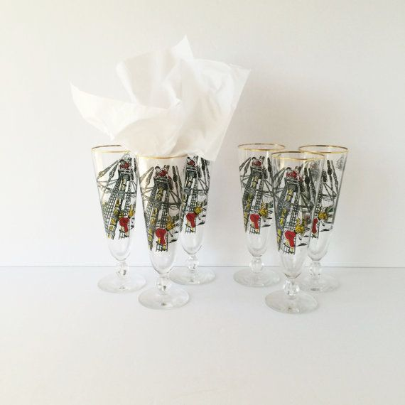 Vintage Pilsner Pirate Glasses Treasure by AlegriaCollection #kprs #yyc