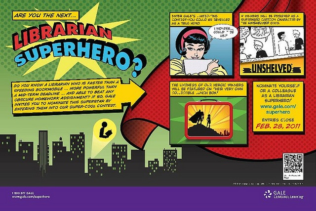 Gale_SuperHero by The Daring Librarian, via Flickr