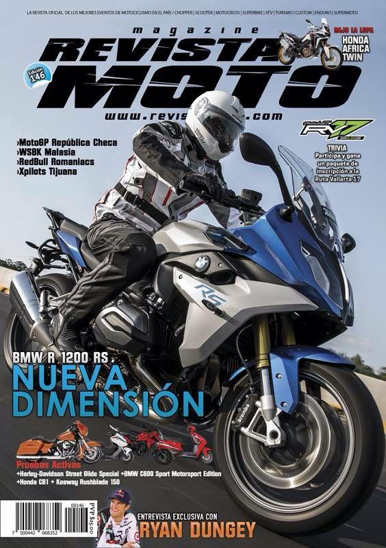 Adquiere tu Revista Moto edición 146 del mes de Septiembre. En ella encontrarás las noticias más importantes del medio motociclista como Pruebas Activas, Entrevistas, Eventos y Competencias, entre muchos artículos más.