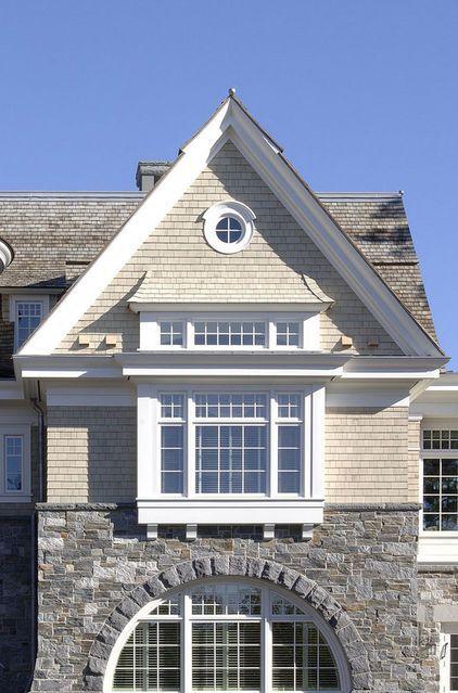 Shingle style home - gable detail...