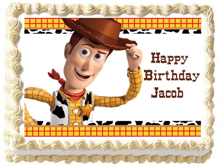 WOODY Toy Story Edible image Cake topper party decoration #KopykakeSheets