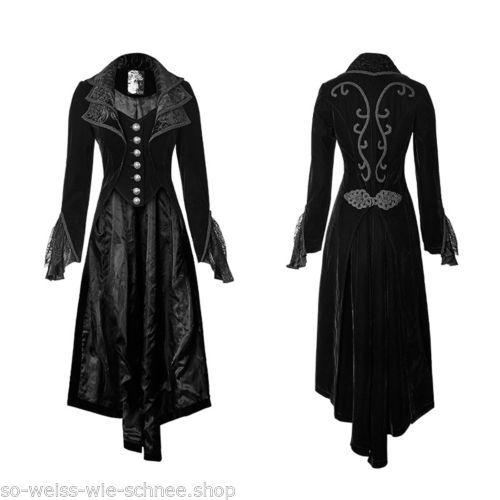 punk rave mantel gehrock gothic steampunk coat victorian spitze