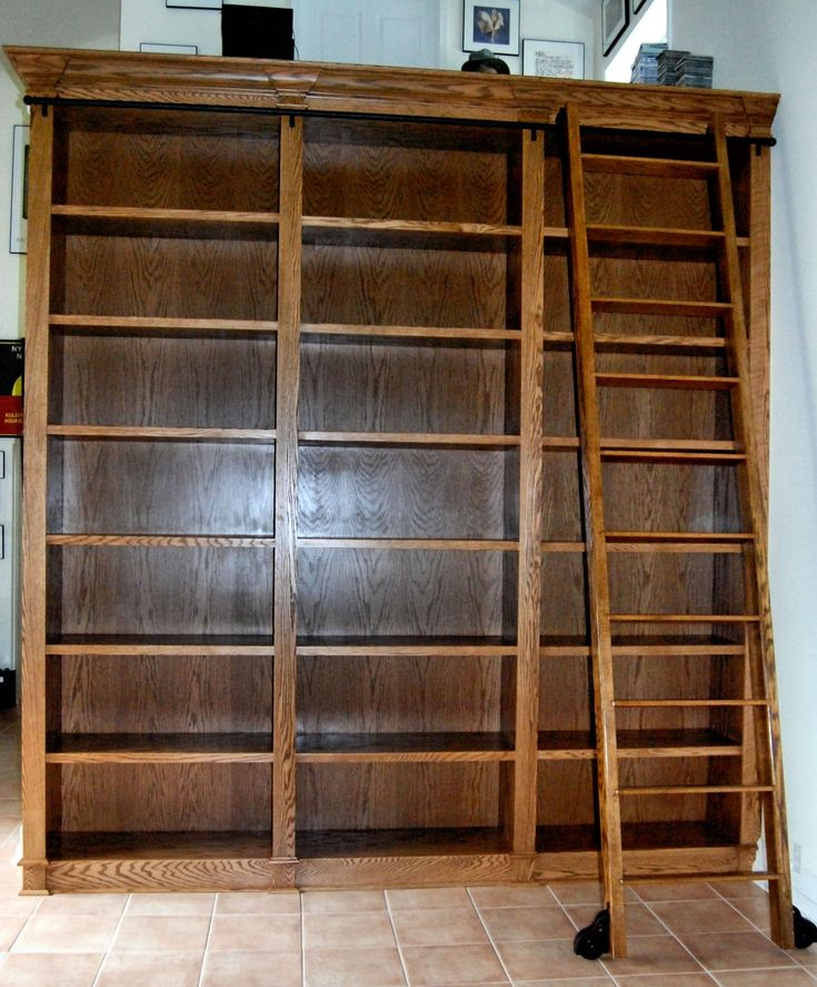 158 best images about Library Ladders – Library Bookcase with Ladder
