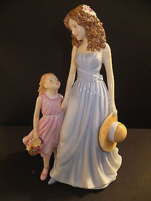 """Royal Doulton Pretty Ladies A Tender Love 2012 Mothers Day Figure of the Year Brand New In Box Fine China Measures approximately 8 1/2"""" High MSRP $320.00 Hand-decorated and hand-detailed, A Tender Lov"""