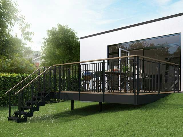 11 best Terasse images on Pinterest Decks, Balconies and Balcony - terrasse sur pilotis metal