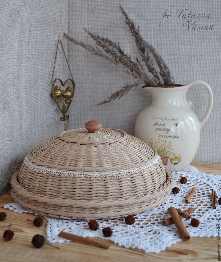 Купить Хлебница плетеная - бежевый, плетеная, плетеная хлебница, хлебница, для кухни, для дома, для дома и интерьера