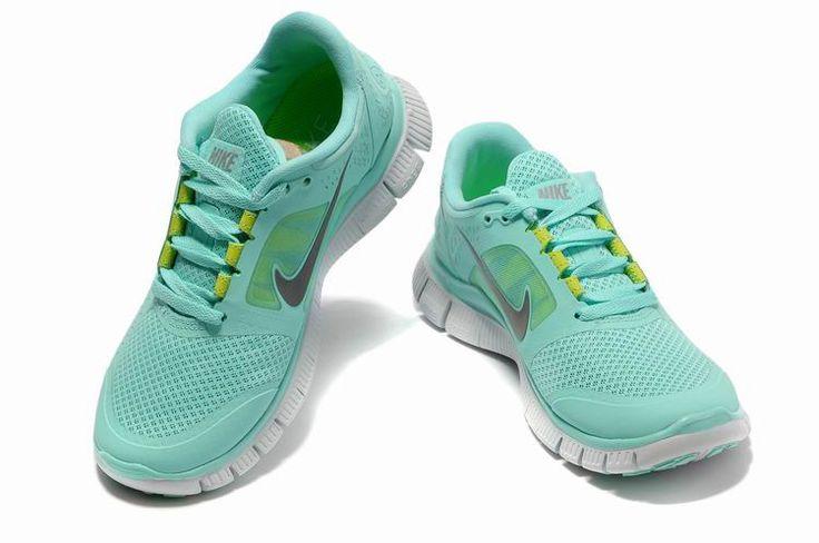 Light Blue Green Women Cheap Nike Free Run Canada 3 Shoes Canada