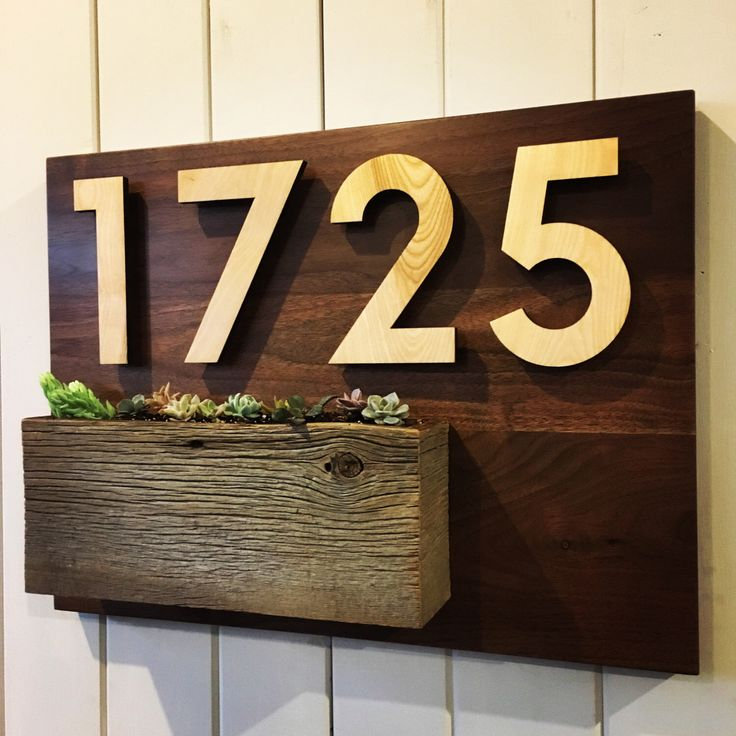 A personal favorite from my Etsy shop https://www.etsy.com/ca/listing/493833844/address-plaque-house-number-digits-7