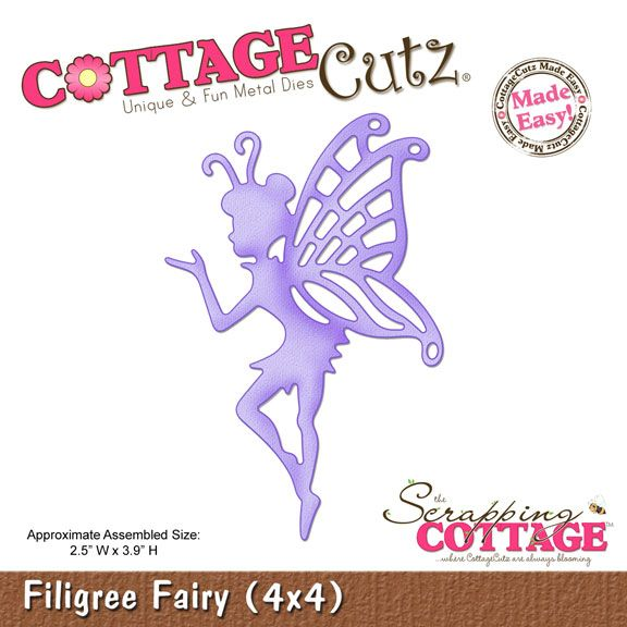 CottageCutz Filigree Fairy (4x4)