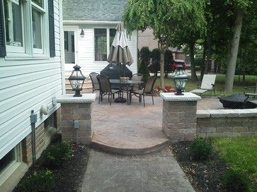 Awesome Colored Stamped Concrete Patio U0026 Sitting Wall   Traditional   Patio   Other  Metro   Rzonca