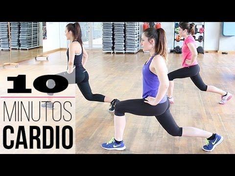 10 minutos de ejercicio cardiovascular.