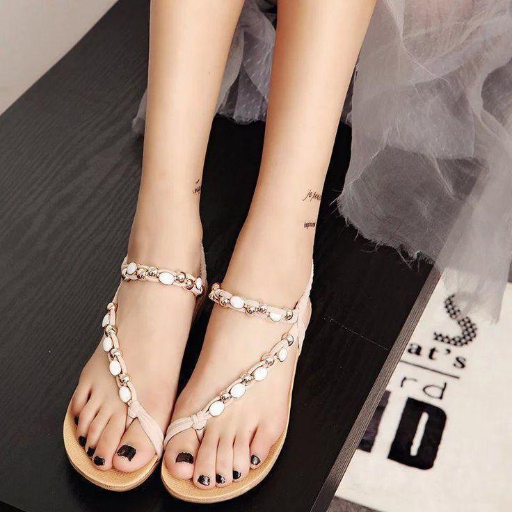 $7.76 (Buy here: https://alitems.com/g/1e8d114494ebda23ff8b16525dc3e8/?i=5&ulp=https%3A%2F%2Fwww.aliexpress.com%2Fitem%2FSummer-Beach-Flip-Flops-Sandals-Women-Beading-Casual-Bohemian-Flat-Wedges-Sandalias-Mujer-Sweet-Girl-Black%2F32738858194.html ) Summer Beach Flip Flops Sandals Women Beading Casual Bohemian Flat Wedges Sandalias Mujer Sweet Girl Black Beige women's shoes for just $7.76