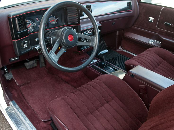 1985 87 Chevrolet Monte Carlo Interior In 2021 Burgundy Car Monte Carlo Chevrolet