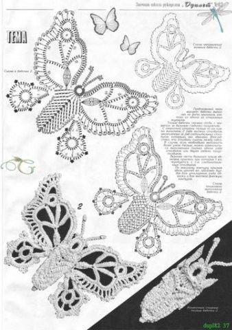 many butterfly patterns вязаные бабочки. Комментарии : LiveInternet - Российский Сервис Онлайн-Дневников