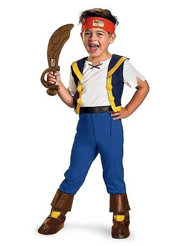 Disneys Deluxe Jake and the Neverland Pirates Jake Boys Costume 46 *** More info could be found at the image url.