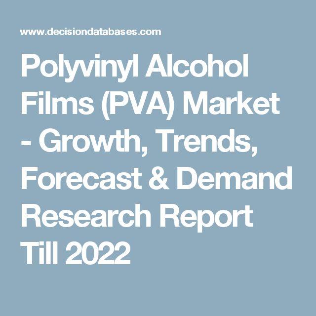 Polyvinyl Alcohol Films (PVA) Market - Growth, Trends, Forecast & Demand Research Report Till 2022