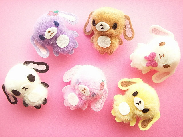 Kawaii Sugarbunnies Pom-Pom Mini Mascot Craft Supplies Japan by Kawaii Japan, via Flickr