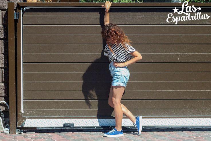 Blue canvas shoes Las Espadrillas