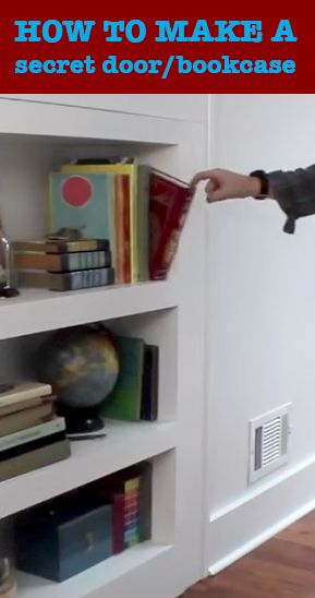 How to make a secret door/bookcase