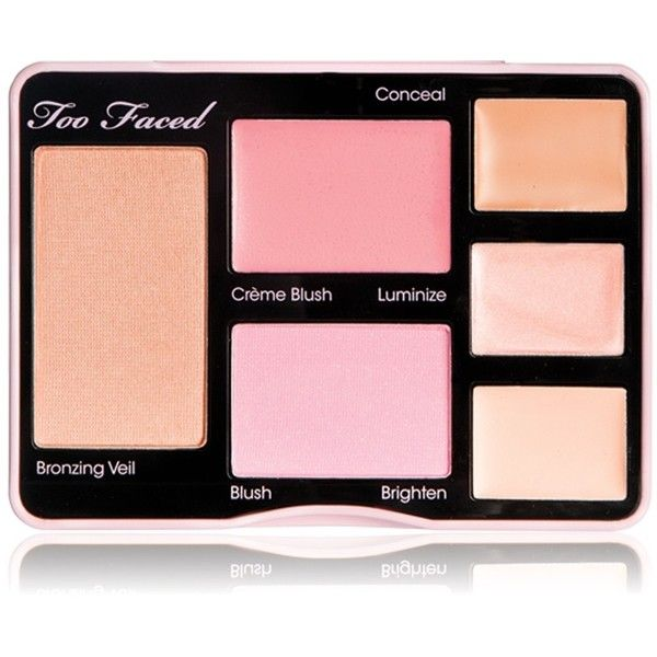 Too Faced No Makeup Makeup (675 ARS) ❤ liked on Polyvore featuring beauty products, makeup, beauty, eyes, accessories, faces, fillers, palette makeup, brightening makeup and powder blush