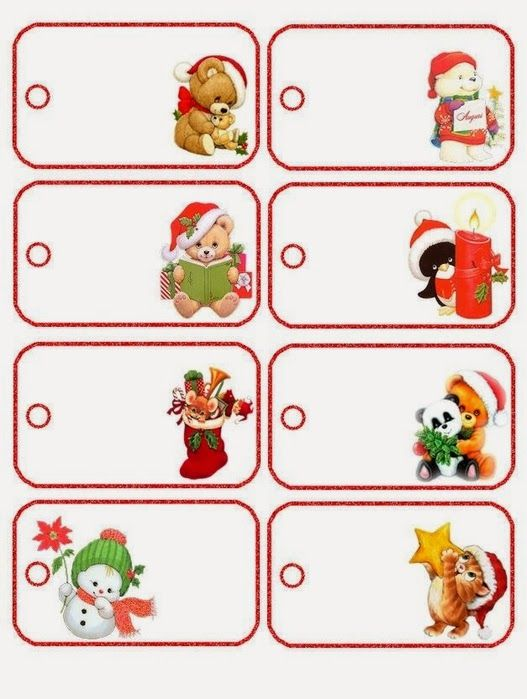 Imprimibles de Navidad a lo Precious Moments para Imprimir Gratis.