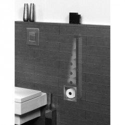 Werk de overige toiletrollen weg met deze Looox Closed reserverolhouder. Ruimte voor 6 rollen