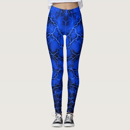 #Blue #lightning, #bolts #pattern #thunders on #dark #sky #leggings @zazzle #apparel #style #clothing #fashion #hot