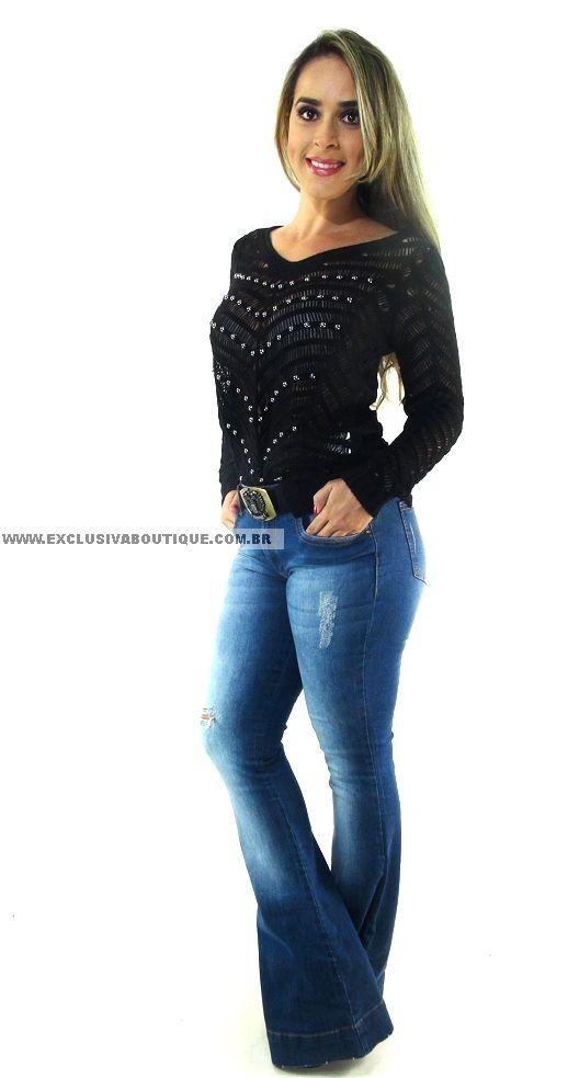 Calça Lança Perfume Jeans Com Cinto em Couro e correntes Alto Inverno 15, 98% algodão 2% elastano. Modelo usa 38