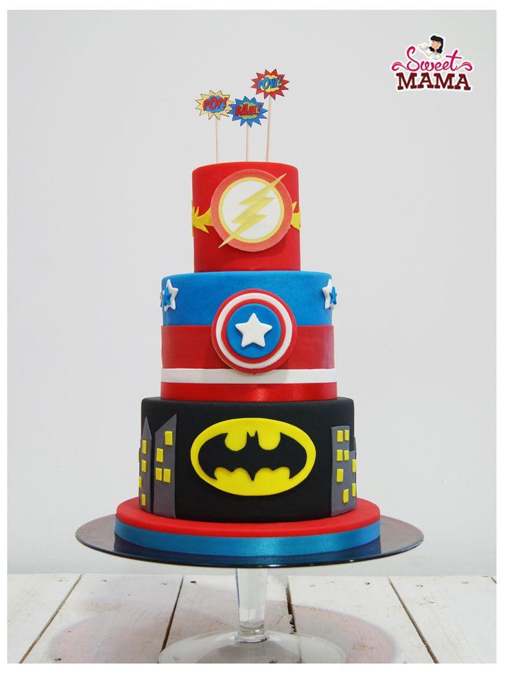 sweetmama-tarta-batman-capitan-america-flash-fondant-logo