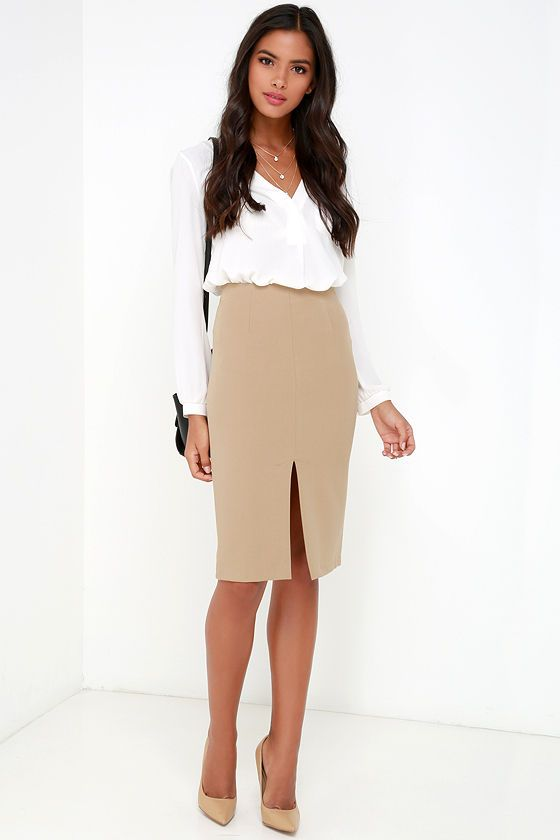 25  best ideas about Tan pencil skirts on Pinterest | Interview ...