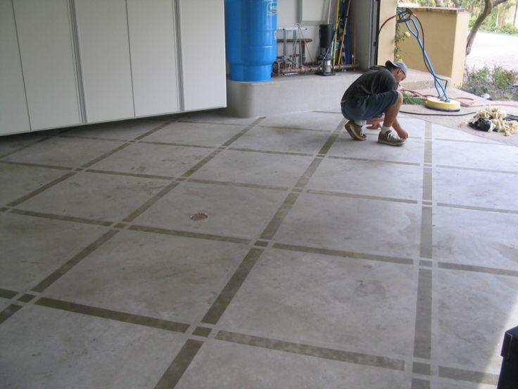 Custom stained concrete new floors pinterest stains concrete floor paint and home - Concrete floor design ideas ...
