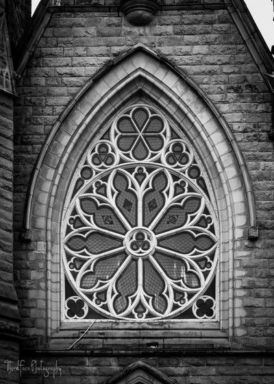 Holy Rosary Cathedral rose window, in Vancouver, BC. Lisa Kelly/Third Face Photography