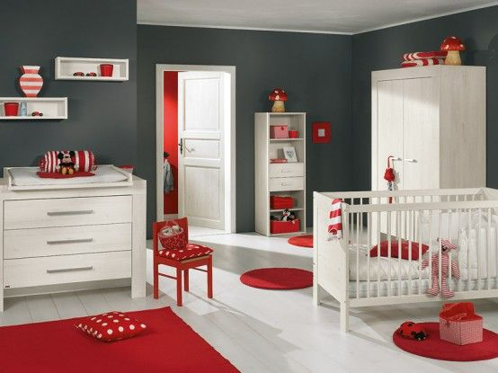 Red and grey baby-boys room..Dan and I can't decide what to do for bubba's next room in our new house.