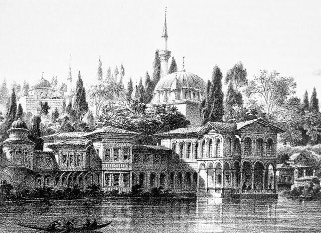 OĞUZ TOPOĞLU : esma sultan sarayı eugene flandin litografisi