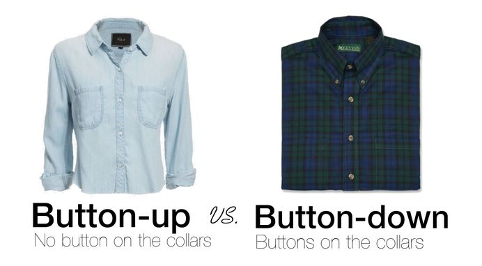 Button Up Shirts Or Button Down