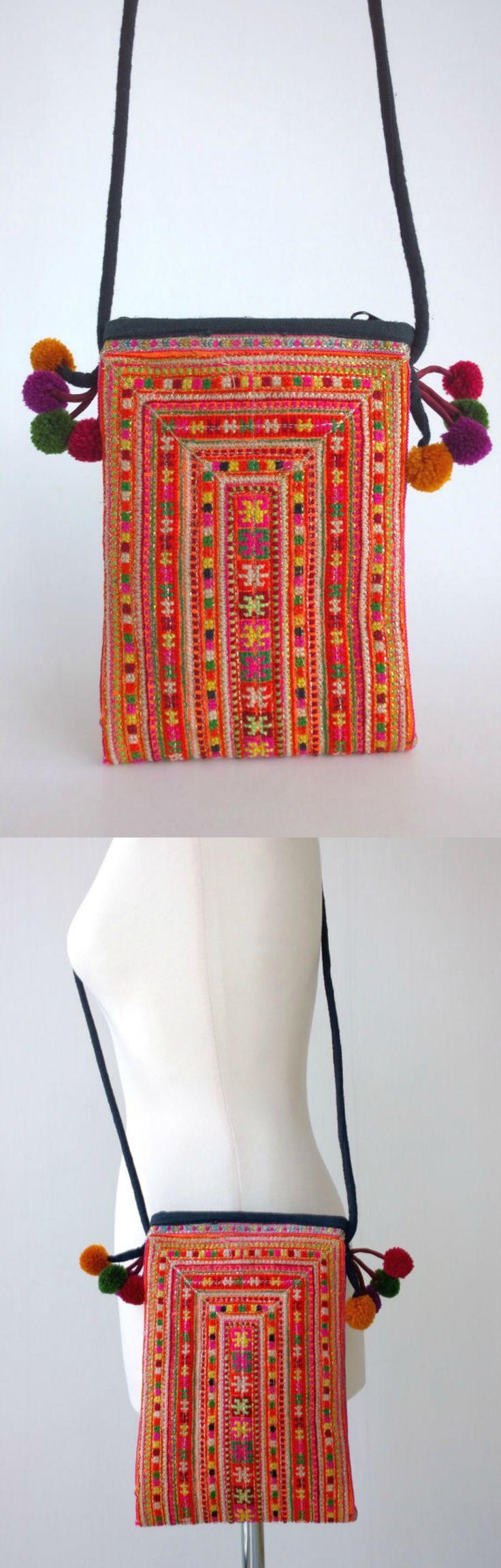 Hmong Crossbody Bag - Boho Crossbody Bag - Ethnic Tribal Bag ( FREE SHIPPING WORLDWIDE )