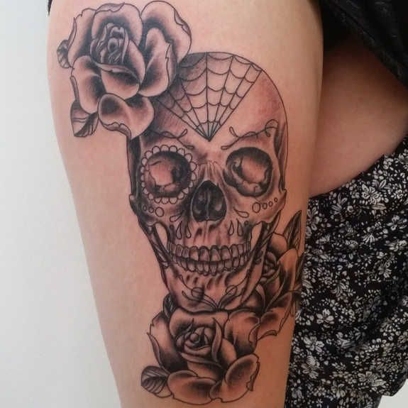 the 25 best ideas about skull candy tattoo on pinterest mexican skull tattoos sugar skull. Black Bedroom Furniture Sets. Home Design Ideas