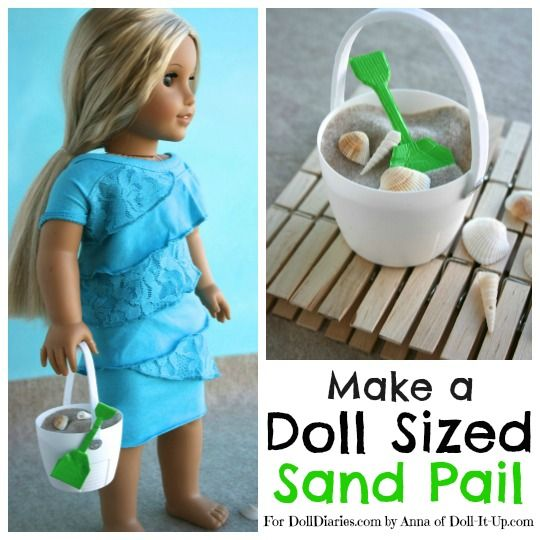 Hoe To Doll Craft- Make a Doll Sized Sand Pail and Shovel — Doll Diaries